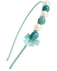 Cara Couture Pearly Bead Bow Headband