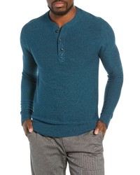Teal Henley Sweater