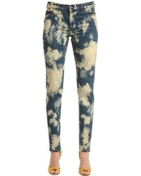 Angry cat patch bleached denim jeans medium 3706181