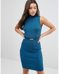 Lipsy Metallic Knitted Bodycon Dress