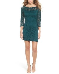 As U Wish Secret Charm Bateau Neck Lace Body Con Dress
