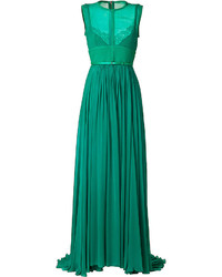 Elie Saab Crepe Gown With Lace Insets
