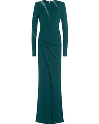 Elie Saab Draped Floor Length Gown With Lace