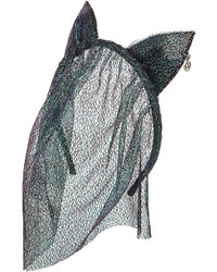 Maison Michel Heidi Headband With Lace Veil And Cat Ears