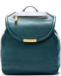 Deep teal leather luna backpack medium 94134