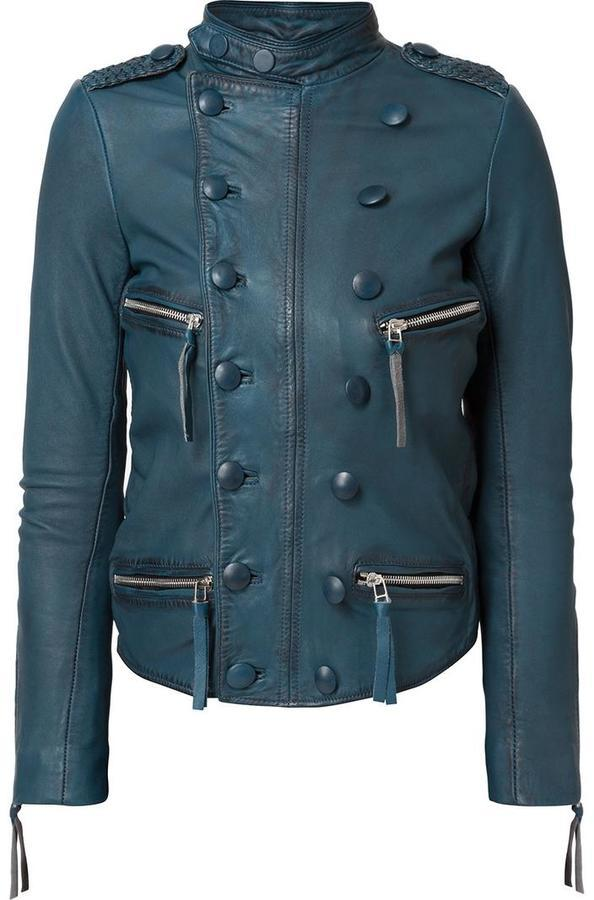 Faith Connexion Double Breasted Effect Biker Jacket