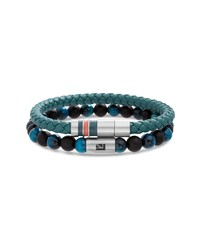 Ben Sherman Leather Bead Bracelet Set
