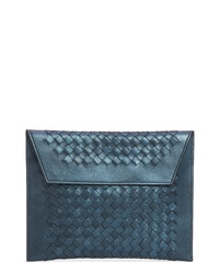 Bottega Veneta Set Of 3 Metallic Leather Pouches