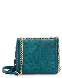 Ivanka Trump Snake Embossed Leather Shoulder Bag