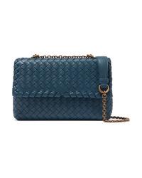 Bottega Veneta Baby Olimpia Small Intrecciato Leather Shoulder Bag