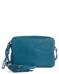 Small mono leather camera bag blue medium 5034651