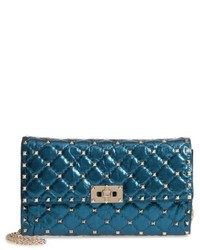 Small rockstud spike laminato crossbody bag green medium 5259877