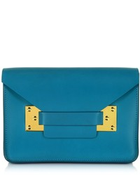 Sophie Hulme Teal Blue Mini Envelope Bag