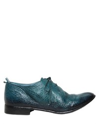 Teal Leather Derby Shoes