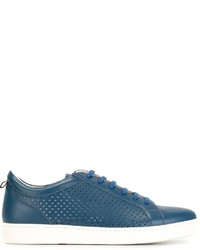 Kiton Perforated Low Top Sneakers