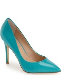 Teal Leather Pumps