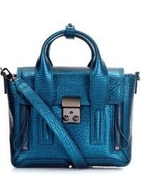 3.1 Phillip Lim Turquoise Leather Pashli Mini Satchel
