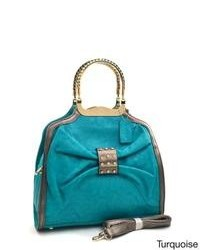 Dasein Bow Cinched A Frame Satchel Bag