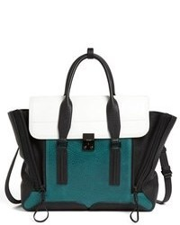 3.1 Phillip Lim Pashli Colorblock Leather Crossbody Satchel