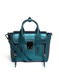 Nobrand Pashli Mini Metallic Leather Satchel