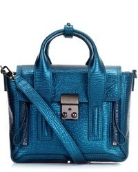 3.1 Phillip Lim Turquoise Leather Pashli Mini Satchel
