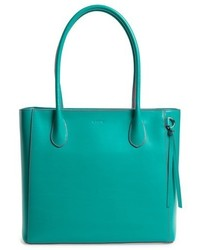 Lodis Cecily Leather Tote Coral