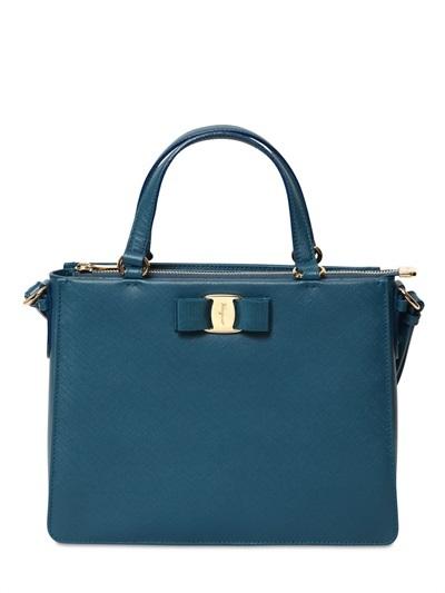 5e47917a0a62 ... Salvatore Ferragamo Tracey Saffiano Leather Shoulder Bag ...