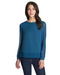 1state sheer panel blouse medium 328215