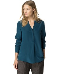 Tommy Hilfiger Silk Teal Blouse