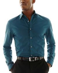 JF J.Ferrar Jf J Ferrar Long Sleeve Satin Stripe Shirt