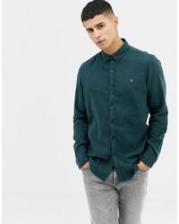 Farah Kreo Slim Fit Jersey Shirt In Green