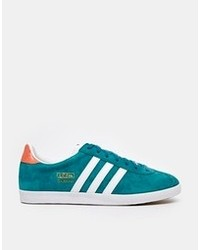 Gazelle teal sneakers teal medium 102477