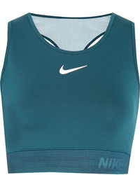 Nike Hypercool Cropped Mesh Paneled Dri Fit Stretch Jersey Tank Petrol