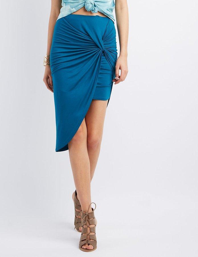 b786aaaae Charlotte Russe Asymmetrical Knot Skirt, $5 | Charlotte Russe ...