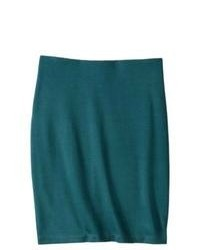 Mossimo Ponte Pencil Skirt Teal S