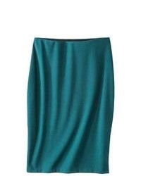 Oxford Collections, Inc. Mossimo Petites Textured Pencil Skirt Teal Mp
