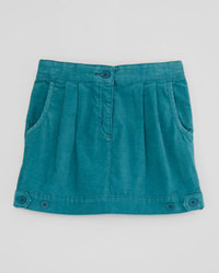 Stella McCartney Aria Pleated Corduroy Skirt Teal Sizes 2 10