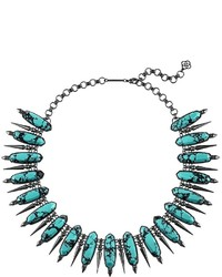 Kendra Scott Gwendolyn Statet Necklace In Variegated Teal Magnesite