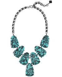 Kendra Scott Harlow Statet Necklace In Variegated Teal Magnesite