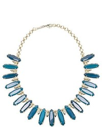 Kendra Scott Gabriella Statet Necklace Teal Agate