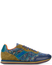 Etro Paisley Panel Lace Up Sneakers