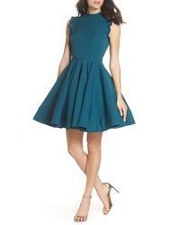 IEENA FOR MAC DUGGAL Mac Duggal Embellished Ruffle Fit Flare Dress