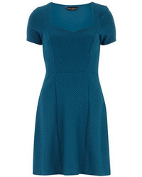 Teal sweetheart fit and flare dress medium 66797