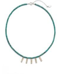 Anna Beck Mini Bar Charm Beaded Necklace
