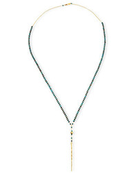 Chan Luu Beaded Turquoise Necklace With Dagger Pendant