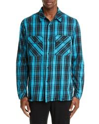 Marcelo Burlon County Check Plaid Button Up Flannel Shirt