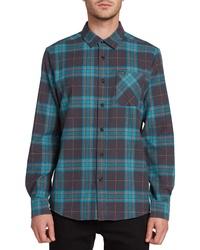 Volcom Caden Plaid Button Up Flannel Shirt