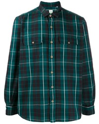 Finamore 1925 Napoli Checked Chest Pocket Shirt