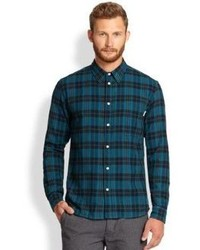 Paul Smith Jeans Tailored Fit Plaid Sportshirt