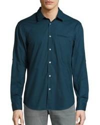 Slim fit plaid button down shirt medium 1197457